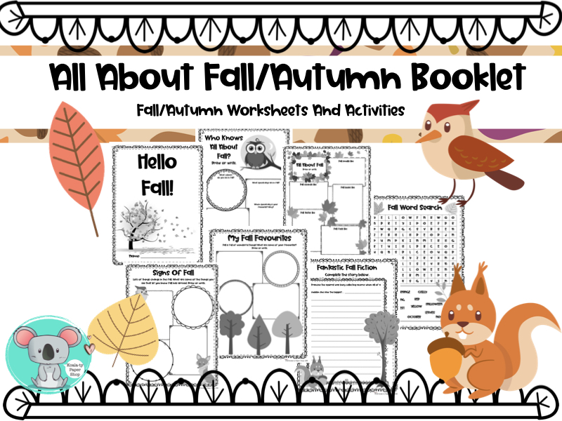 All About Fall Worksheets And Activities or All About Autumn Worksheets And Activities