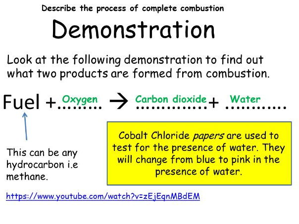 Combustion C7 - New specification GCSE (1-9) AQA SCIENCE