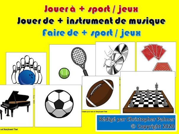 French: Jouer à, jouer de, faire de (Key Stage 3)