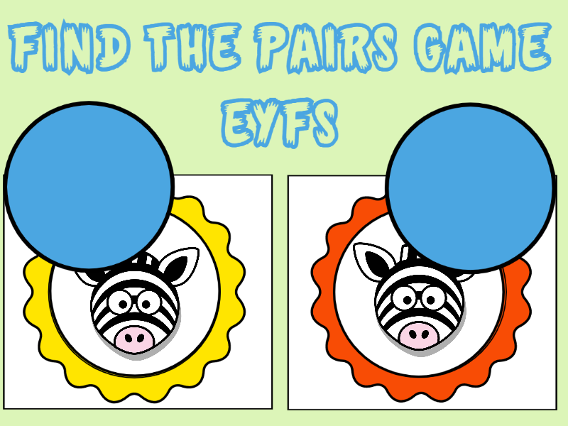 Find the Pairs Game EYFS