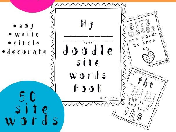 50 Sight Words Doodle Book
