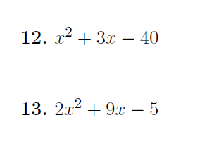 Factorising quadratics worksheet no 4 (with solutions)