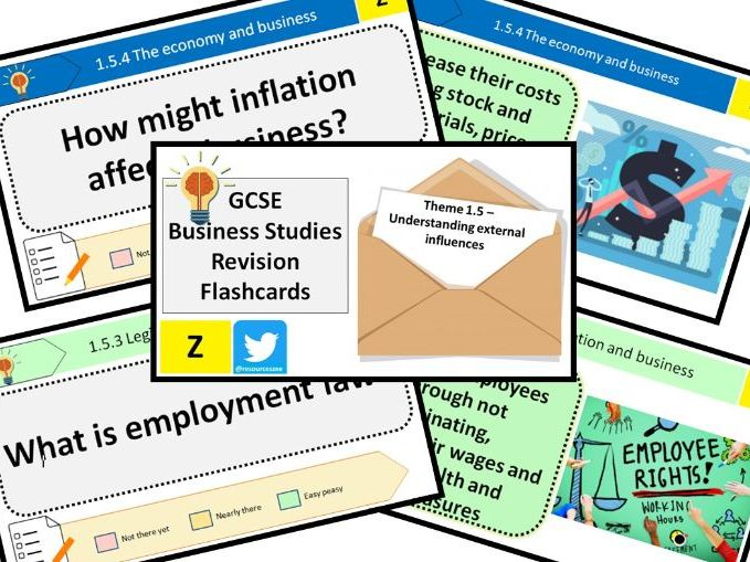1.5 Understanding external influences - Edexcel GCSE Business Knowledge revision