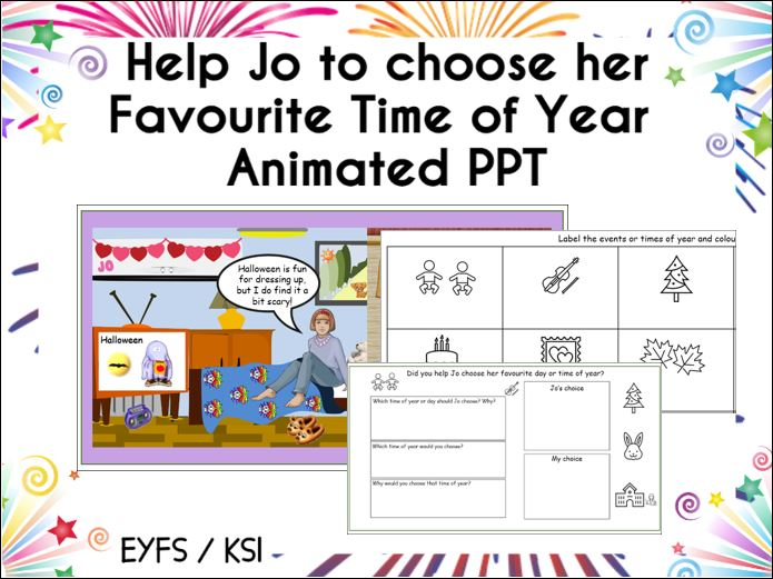 Help Jo choose her Favourite Time of Year PPT
