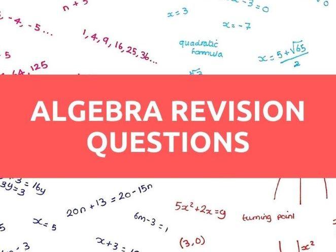 GCSE Maths Algebra Questions