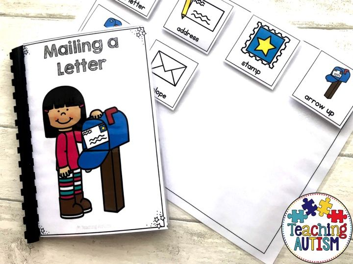 Mailing a Letter, Sequencing Adapted Book