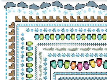 Winter Borders and Frames, Doodle Borders, Doodle Frames