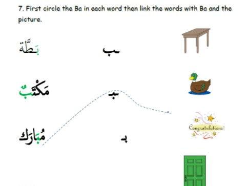 Arabic Letter Ba Formation