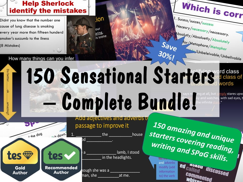 150 Sensational English Starters Bundle.