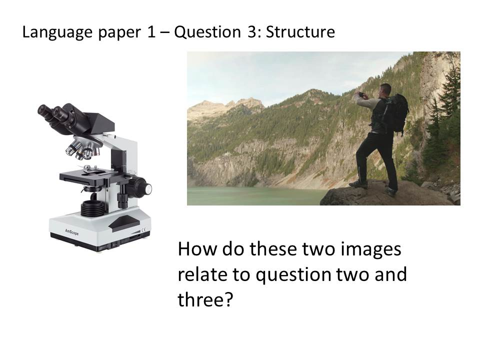 AQA language paper 1 Question 3 lesson based on 2017 paper