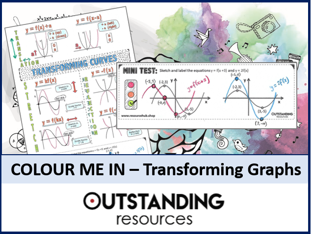 Colour Me In Sheets or Doodle Notes - Transforming Graphs