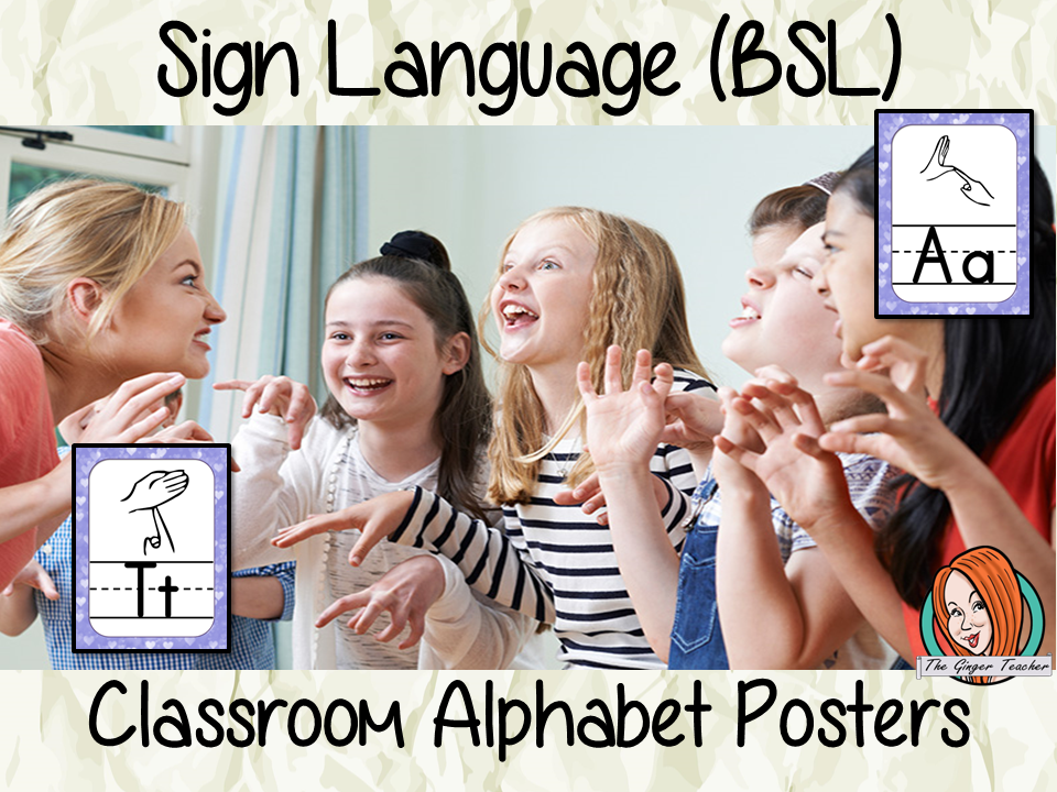 Sign Language BSL Classroom Posters