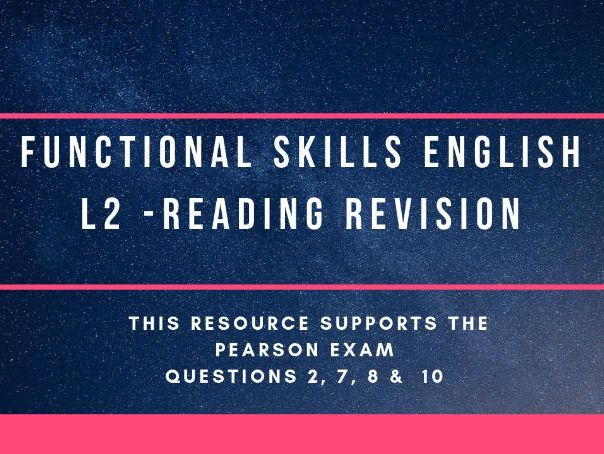 Functional Skills L2 Reading revision