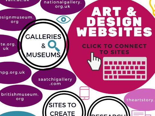Art & Design web resources interactive PDF poster