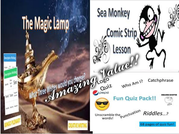 The Magic Lamp + Sea Monkey + Fun Quiz Pack