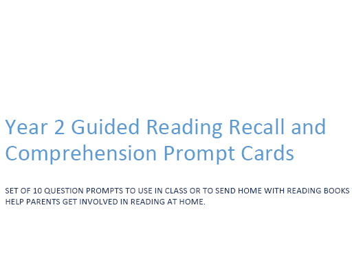 AF2- Year 2 Guided Reading Prompt Question Fans