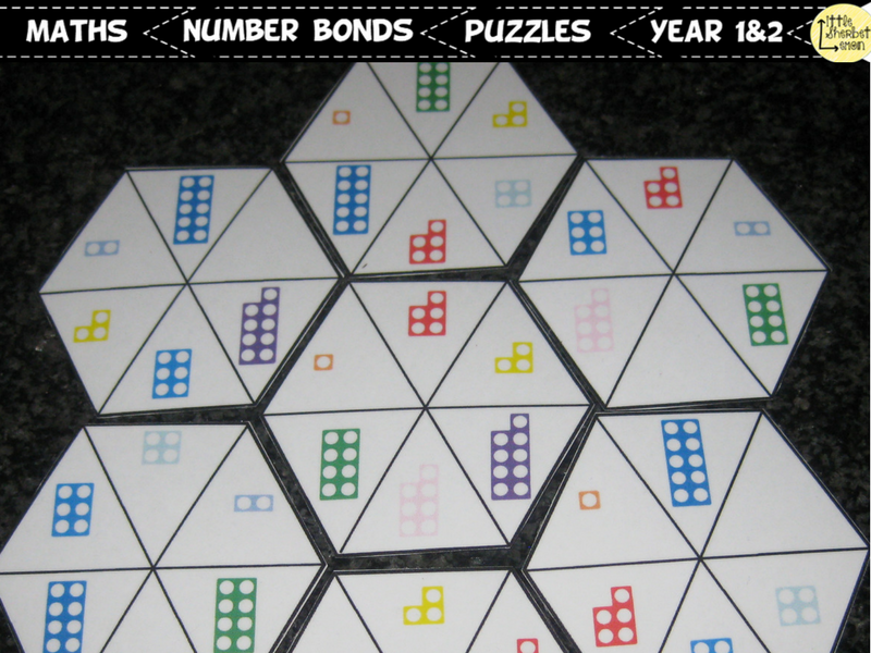 Numicon Number Bonds to 10 Puzzles