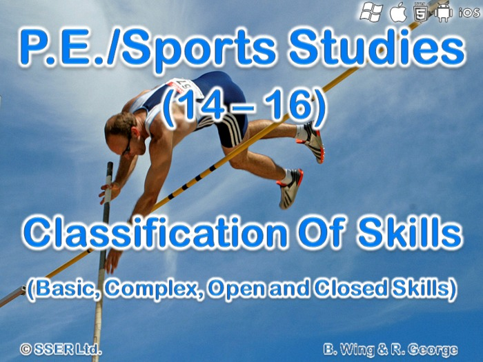 PE501ST - Classification of Skills (Basic, Complex, Open, Closed)