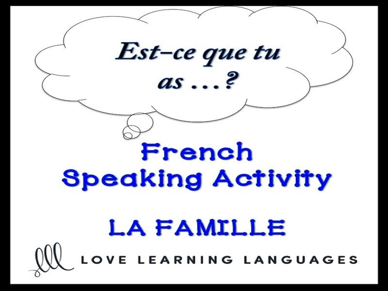 LA FAMILLE French Speaking Activity: Est-ce que tu as déjà…?