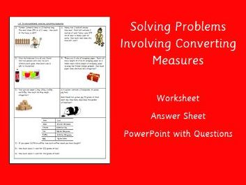 Converting Measures Worded Problems and Answers - Year 4