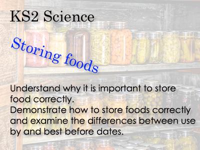KS 2 Science Storing foods