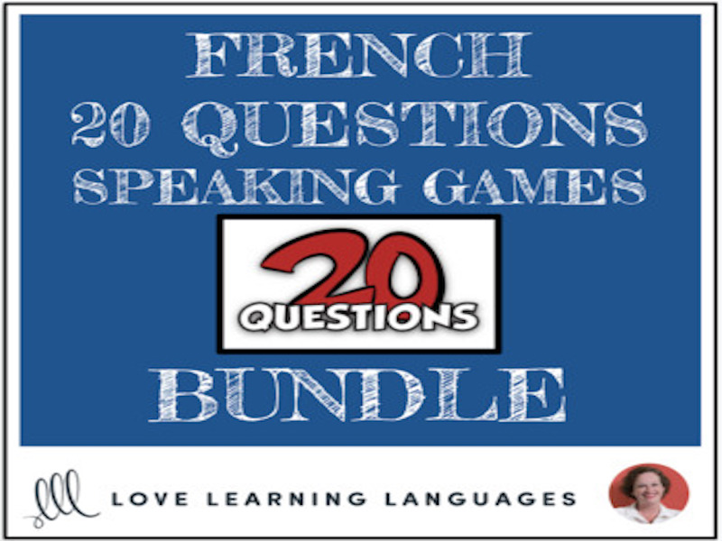 French 20 Questions Speaking Games - BUNDLE