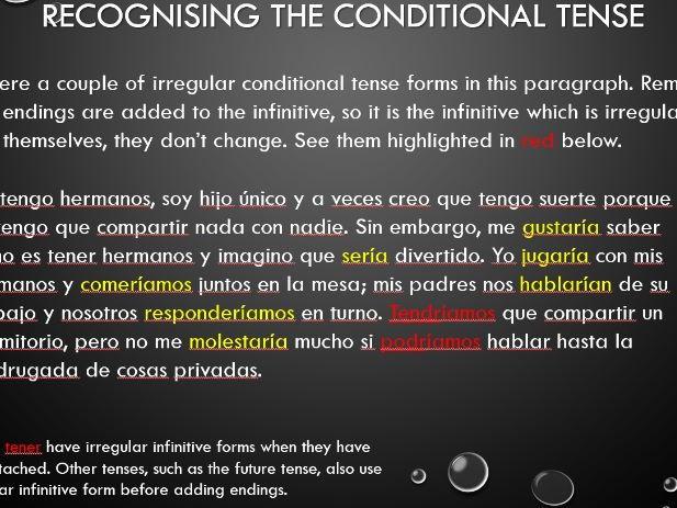 Spanish Conditional Tense