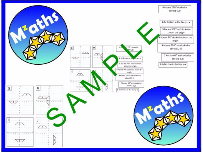 Transformations Revision Activity -Matching Up