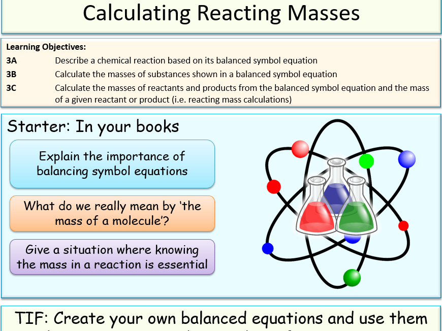 Calculating Reacting Masses