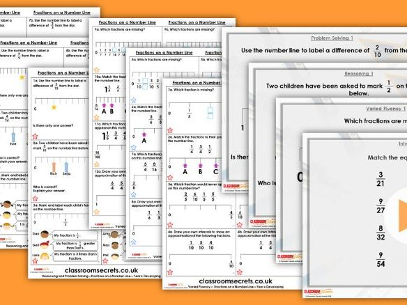 Year 6 Fractions on a Number Line Autumn Block 3 Step 2 Lesson Pack