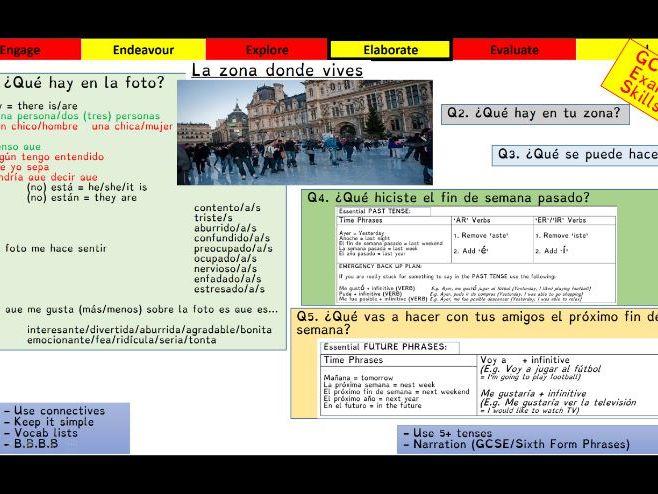 Viva GCSE - Module 5 - Como es tu zona - Lesson 1