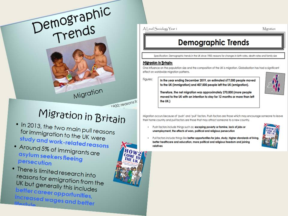 AQA Sociology - Year 1- Families & Households - Migration