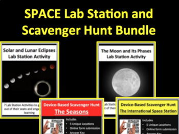 Space Activities - Lab Stations & Digital Scavenger Hunts
