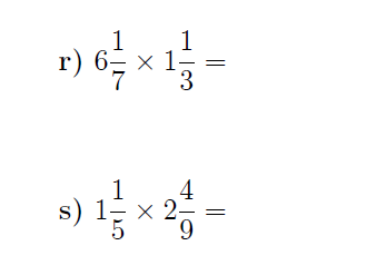 Multiplying mixed numbers worksheet (with solutions)