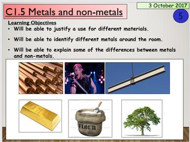 KS3 C2.1 Metals and non-metals