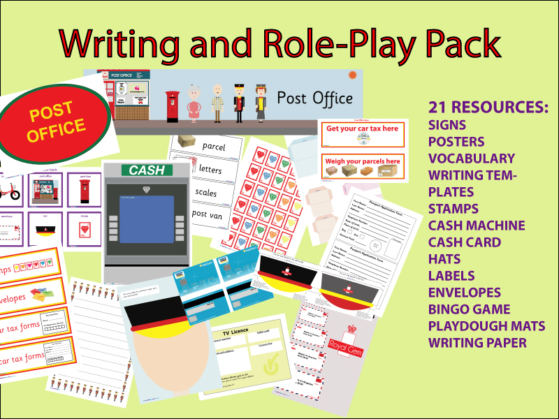 WRITING AND ROLE-PLAY - POST OFFICE