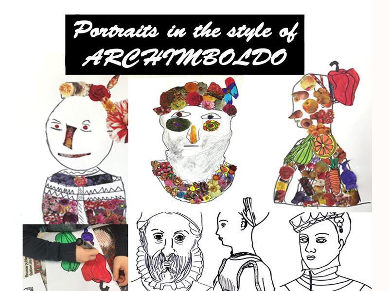 Archimboldo portraits, art activities
