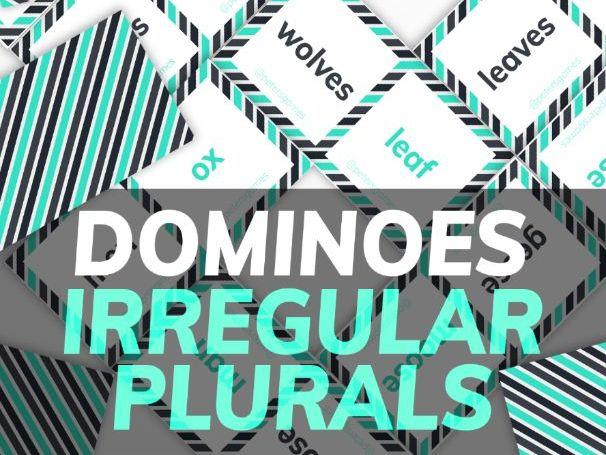 Irregular Plurals Dominoes for ESL Teachers