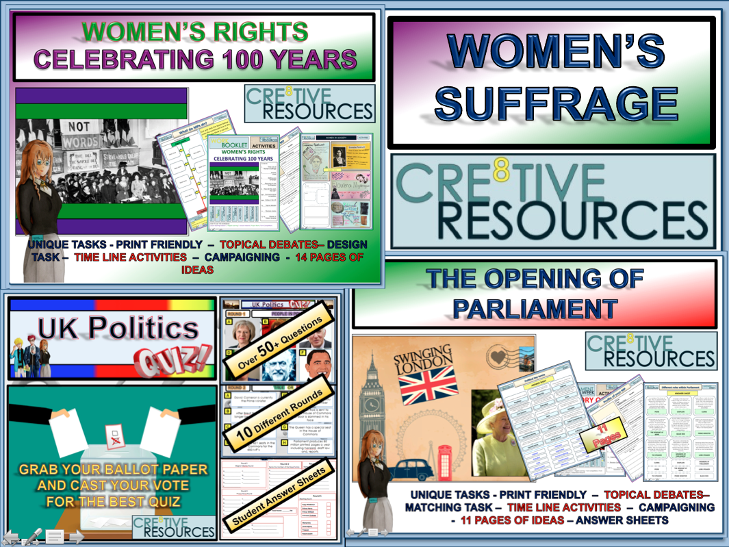 Women's Rights Celebration + Women's Suffrage Bundle