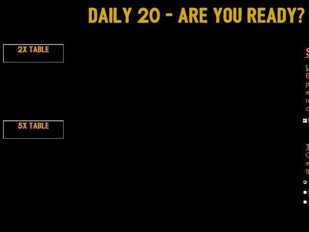 Daily 20 - Mental Multiplication