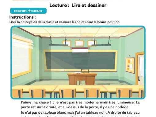 La Salle de Classe : Lire et dessiner !
