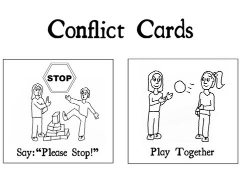 STOP Classroom fights with Conflict Resolution Cards