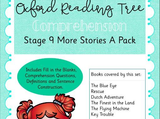 ORT - Oxford Reading Tree Stage 9 More Stories A Comprehension Pack
