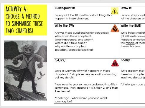Year 5/6: Whole Class Reading - Land of Roar 20-21 - sequence/summary lesson