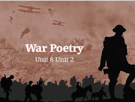 War Poetry: Year 8 Scheme of Work