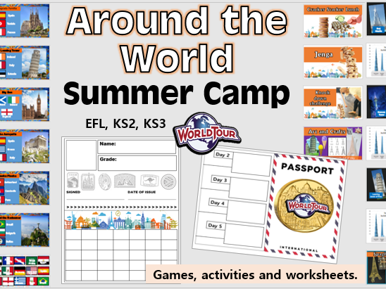 Around the World Summer Camp- DAY 1 (Geography, KS2 KS3, EFL)