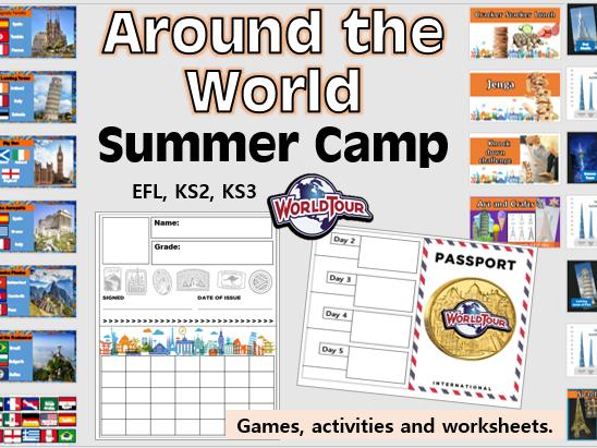 Around the World Summer Camp- DAY 1 (Geography, KS2 KS3, EFL)