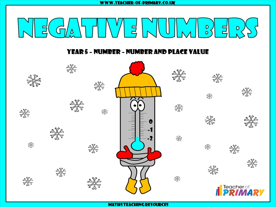 Negative Numbers - Year 5