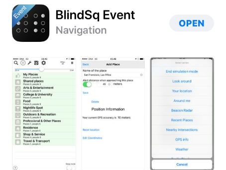 BlindSq Event - Indoor Beacon Navigation Features and Settings