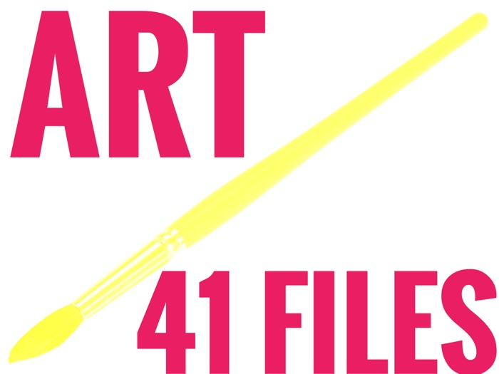 Art Resource Bundle for 2018 - 19. 41 files